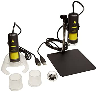 Aven 26700-208 1.3M Pro Pack Digital Microscope, 10-200x, 500x Magnification and Polarizer