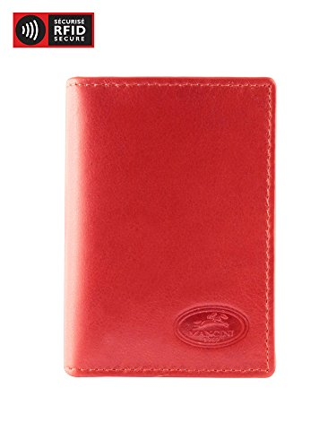 - Mancini Leather Goods Inc Men's Top Grain Polished Drum Dyed Leather RFID Secure I.D. Card Wallet 3