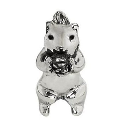 Jovana Sterling Silver Cute Squirrel Bead Charm, Fits European Charm Bead Bracelets