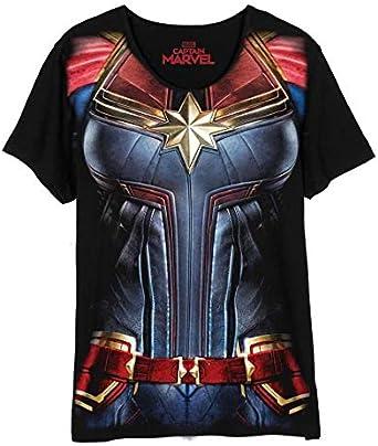 Captain Marvel Costume T-Shirt Femme Captain Marvel