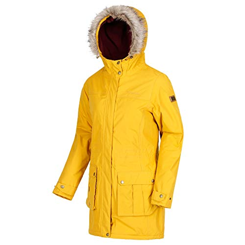Seed Giacca Mustard Waterproof Regatta Thermoguard And Sherlyn Insulated Fur Faux Hooded Donna 8wHPTw