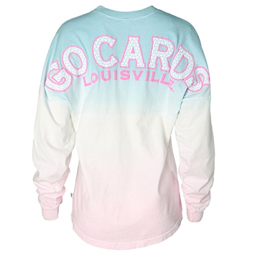 Official NCAA University of Louisville Cardinals Fight UofL Women's Tie Dye Spirit Wear Jersey T-Shirt