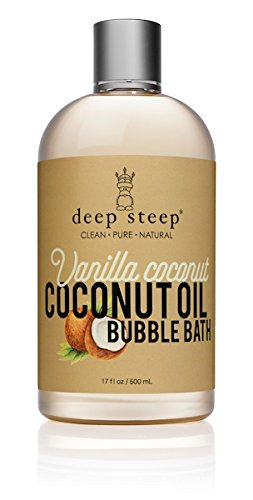 Deep Steep Bubble Bath, Coconut Oil, 17 Ounces (17 Ounce, Vanilla Coconut)