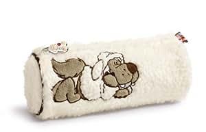 Nici Jolly Wulf 31427 - Estuche portalápices de peluche, diseño lobo, color beige