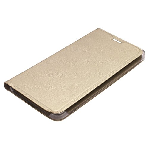 Karirap Imported Leather Type flip Cover for Nokia 6   Gold