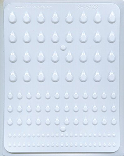 "Mold Assortment (CK Products 8H-5123 Teardrop Gems Assortment Candy-Making-Molds, 9"" x 6"", Clear)"