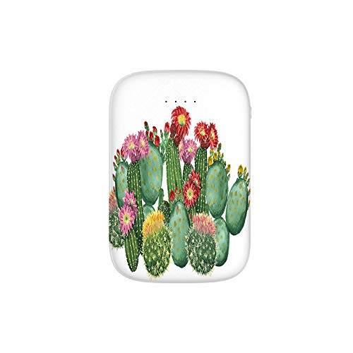 Saguaro Barrel Hedge Hog Prickly Pear Opuntia Tropical Botany Garden Plants Portable Charger 10000mAh Power Bank External Battery Backup Pack Fast Charger for iPhone,Samsung Galaxy and More (Solar Garden Pear)