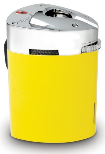 Tonino Lamborghini Mugello Yellow Triple Torch Flame Table Lighter by Tonino Lamborghini