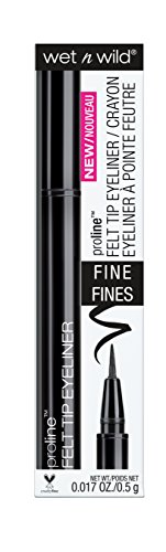 wet n wild Proline Felt Tip Eyeliner, Black, 0.017 Fluid Ounce (Pack of 3)
