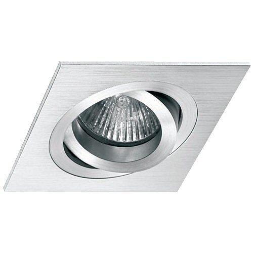 Empotrable Aluminio cepillado, cuadrado basculante (Halógeno o LED), color Al...: Amazon.es: Hogar
