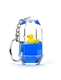 Moving Liquid Duck Key Ring, SUPPION Mini Filled Bottle Keychains
