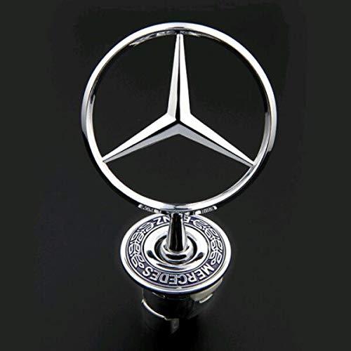 bearfire 3D Emblem Car Logo Front Hood Ornament Car Cover Chrome Eagle Badge (Mercedes benz)