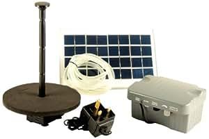 PK Green - Bomba solar para fuente de jardín, incluye batería de repuesto, 1,25m