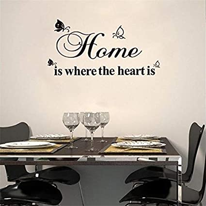 World Beautys Home Is Where The Heart Is Quotes Wall Decals Home