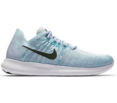 Nike Women's Free RN Flyknit 2017 Running Shoe BLUE TINT/BLACK-CIRRUS BLUE-AURORA GREEN - Nike Cable Womens