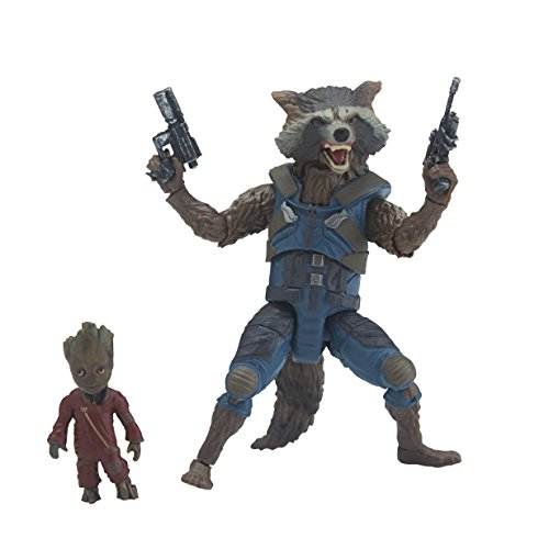 Marvel Guardians of the Galaxy Legends Series Rocket Raccoon et Bébé Groot,...