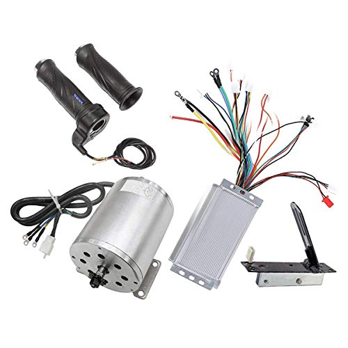 (ZXTDR 48V 1800W Brushless Motor and Controller Throttle Grip Accelerator Pedal Set For Electric Scooter Go Kart Bicycle e-Bike Tricycle Moped)