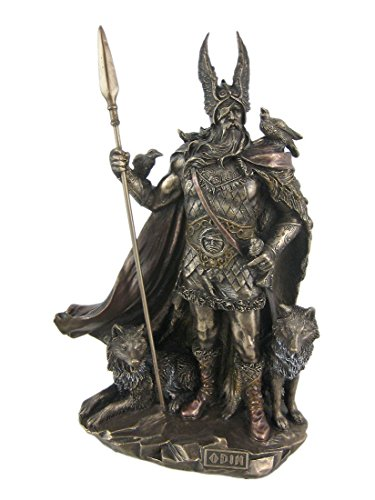 Unicorn Studio 9.75 Inch Norse God - Odin Cold Cast Bronze Sculpture Figurine One ()