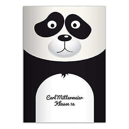 2 Mignons Cahiers Personnalisés Dessin Petit Panda A5