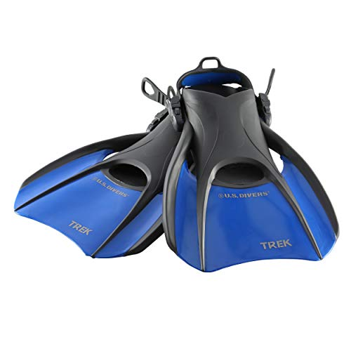 U.S. Divers US Divers Trek Travel Fin Medium, Blue, Medium 7-10
