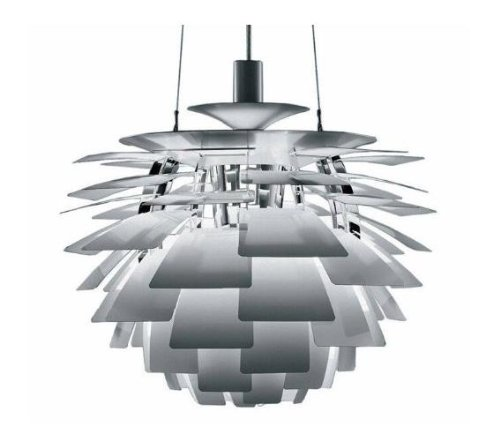 White Artichoke Pendant Light