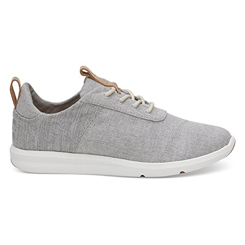 TOMS Women's The Cabrillo Sneaker Drizzle Grey Chambray Mix 7.5