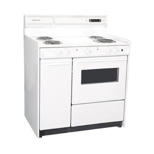 Summit WEM430KW Kitchen Electric Cooking Range, White by Summit
