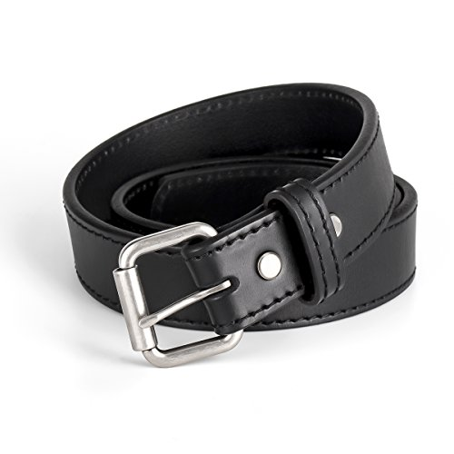 LIRISY Concealed Carry CCW Gun Belt | Buckle & Black Leather Holster Belt | Men's Tactical Belt 1 1/2-Inch