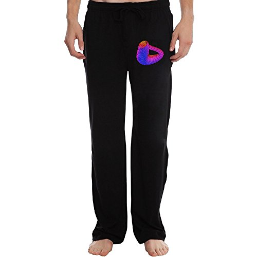 ZOENA New Color Klein Bottle Pants For Men Black Size XL