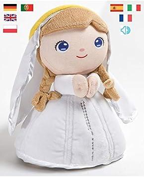 Jesusito de mi vida Peluche Virgen María Oración Ave María 7 Idiomas 22 cm. (