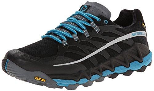 Merrell Women's All Out Peak Gore-Tex Trail Running Shoe,Black/Algiers Blue,8 M US