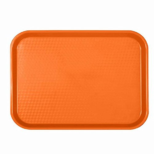 CAFETERIA TRAYS - FAST FOOD TRAY - CAFE - LUNCH - PLASTIC TRAYS ASSORTMENT OF COLORS 10 1/2