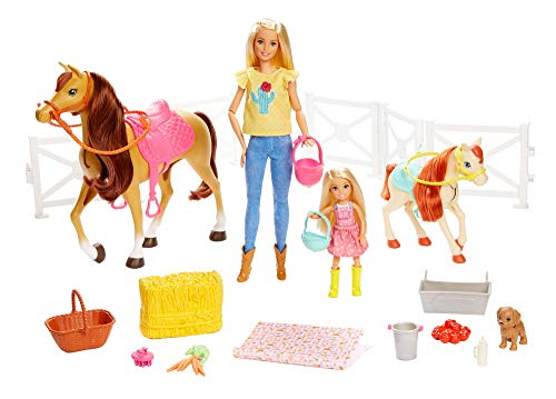 Mattel Barbie Hugs N Horses Playset, Blonde
