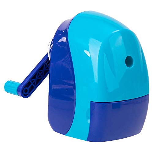 HBHGN sharpener sSemi Auto Rotary pencil sharpener pencil cutter cute sharpener knife smooth sharpening school accessories stationery,Blue