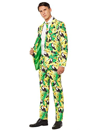 OFFSTREAM Halloween Suits for Men - Costumes Include Jacket Pants and Tie -