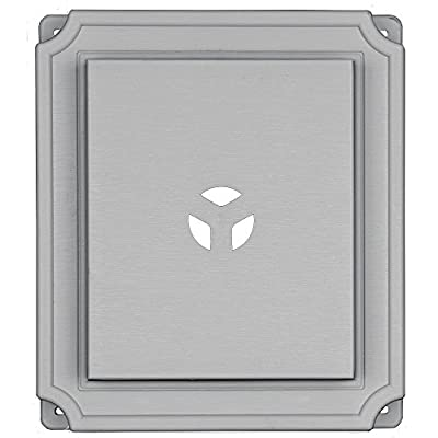 Builders Edge 130110011016 Insulated Siding Scalloped Ring Mount Block 016, Gray