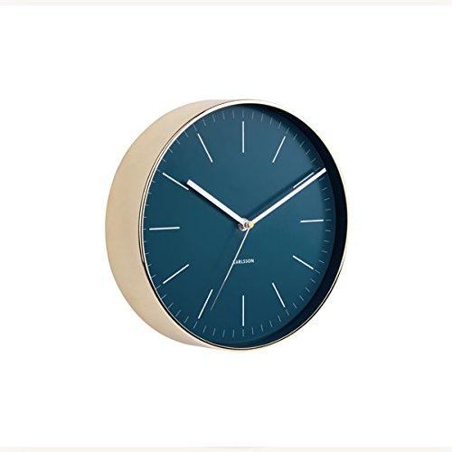 Karlsson Wall Clock, Steel, Blue, One Size