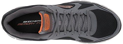 0 Grigio 1 Black Flex Zizzo Charcoal Advantage Uomo Skechers Sneaker 60txqa