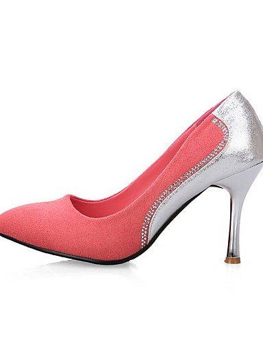 GGX/Damen Frosted High Heels Spitz geschlossen Zehen sortiert Farbe Pull auf pumps-shoes pink-us6 / eu36 / uk4 / cn36