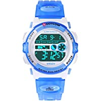 Digital Watch for Kids, Outdoor Sports Camping Swimming Boys and Girls Watch Waterproof Electronic Wrist Watch for Children with Time, Date, Alarm, LED Light, Chime, Stopwatch Functions