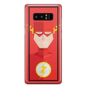 Samsung Note 8 case Flash Superhero Slim Profile Clear Wrap Around Phone Cover