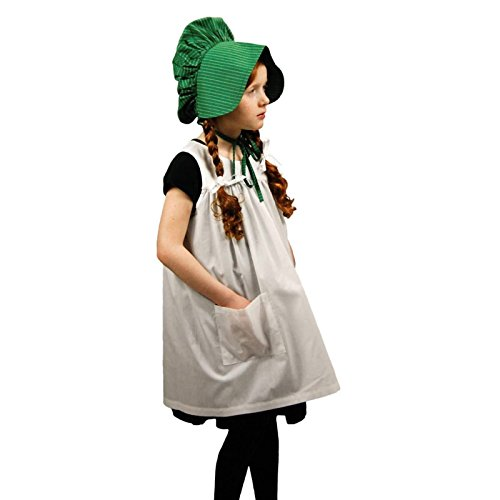 Little House on The Prairie Child-Size Apron & Bonnet Costume Dress Up Set (Which Matches an 18 in Doll Size Dress That Fits American -