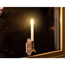 Solar candle light outdoor waterproof solar sucker wall lamp European and American hot home decoration lights 2pcs