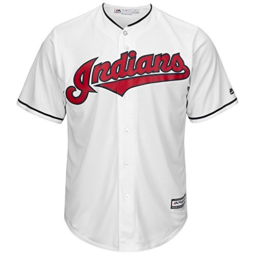 Majestic Athletic Cleveland Indians Cool Base Home Jersey Large