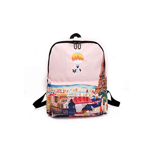 Rainie002 2019 Landscape Embroidery Printing Backpack Casual Canvas Backpack School Bags For Teenager Girls Rucksack,C,31 X 14 X 41 Cm (Best Golf Swing Training Aids 2019)