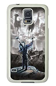 Summoning the Storm Native American Polycarbonate Hard Case Cover for Samsung S5/Samsung Galaxy S5 White