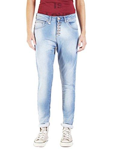 Cintura Estilo Para Azul Felpudo Wash Jeans Carrera Suelto Normal Caído Lavado Tiro Jogger super Denim 771 Stone Ajuste Interior Luz Mujer Vaqueros 022 8x6qI