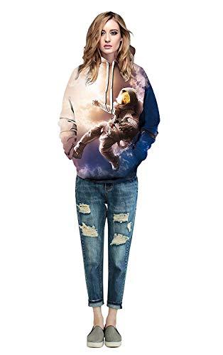 Larga Pareja Otoño Sudadera Streetwear Casual Swag Sweatshirt Camicia Hoodie 12 Colour Moda Animales Manga Cómodo Con Capucha 3d Cappuccio Unisex Primavera Impresión Elegante qAwgPax0