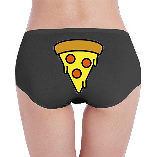 Joapron Drippy Pizza Womens Sexy Underwear Large Black