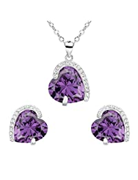 EleQueen 925 Sterling Silver Full Cubic Zirconia Forever Love Heart Bridal Jewelry